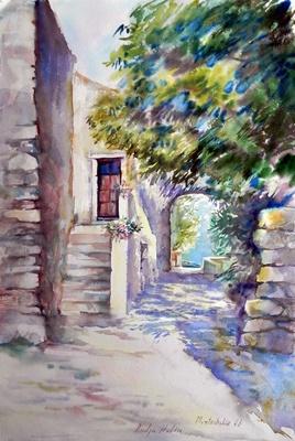 Från by Montichello Korsika